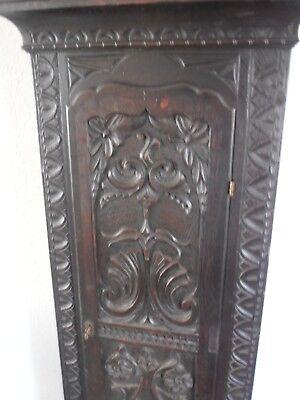 Antique 8 Day Brass Arch Dial Oak Grandfather Longcase Clock ALEX GORDON DUBLIN 4
