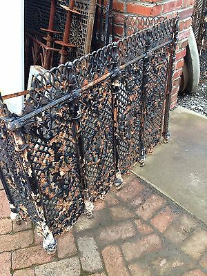 One Matched Pair Very Ornate Cast-Iron Radiator Covers Antique 10