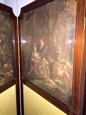 Antique ENGLISH Room Divider SCREEN ~1890s 10