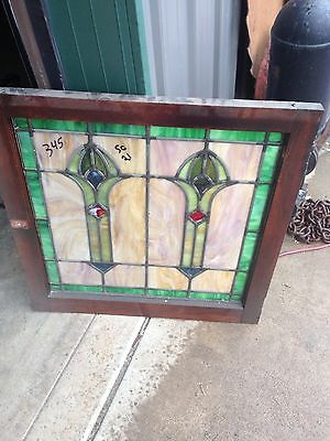 Antique 1920S Arts And Crafts Antiques Stainglass Window Sg 21 3