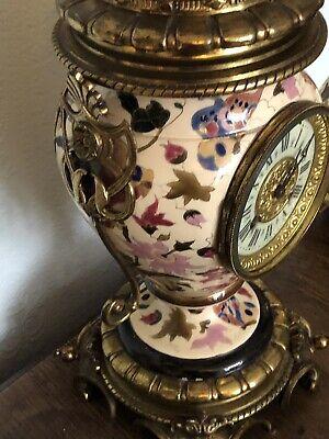 Antique French Ceramic Clock Set With Fantastic Candelabra 10