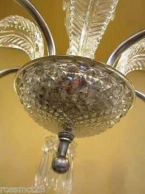 Vintage Lighting 1940s crystal chandelier 6