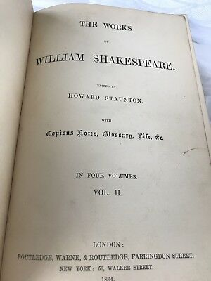 Antique The Works Of William Shakespeare Volume 14 Very Delicate 1864 8