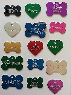 Custom Engraved Personalized Pet Tag Id Dog Cat Name Tags Double Side 2