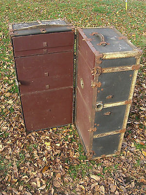 Mendel & Co. Wardrobe Steamer Trunk, Yale Lock & drawers c. 1900 5 • £370.10