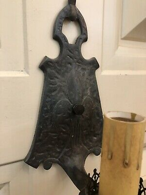 Single Hand Hammered Arts & Crafts Wall Sconce Rewired 4
