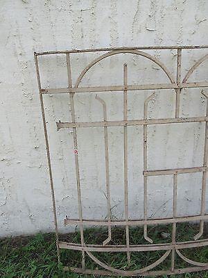 Antique Victorian Iron Gate Window Garden Fence Architectural Salvage Door #2 3