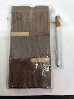"USA 4/"" WOODEN OG DUGOUT 3"" ONE HITTER SMOKING PIPE TOBACCO STASH BOWL PUFF HOT X"