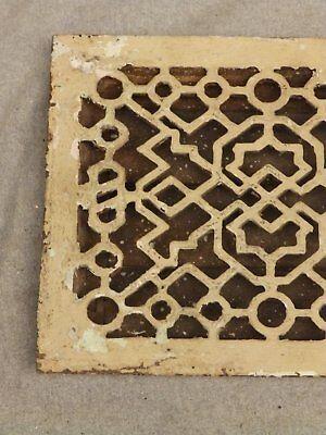 Antique Cast Iron Heat Grate Register Vent Old Vintage Hardware 640-16 3