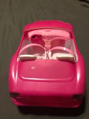 Mattel BARBIE Pink Chevy Convertible Glam Drop Top 2 Seater Car 4