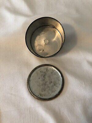 Vintage Cara Nome Powder Jar Container Metal Tin Light Yellow Round Cosmetic 6