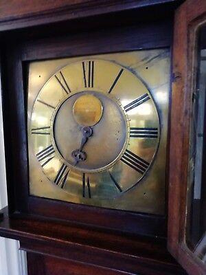 Single Finger Grandfather Longcase Clock Joseph Donisthorpe Circa 1770 10