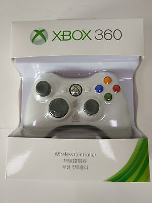 Genuine Wireless Game Controller For Microsoft Xbox 360 & Slim Black / White AU 2