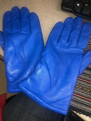 Women's Blue Gloves Wilson Leather Size L New With Tag 9