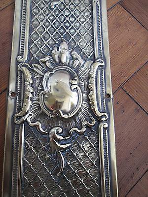 Decorative Old Solid Brass Finger Door Plate 2