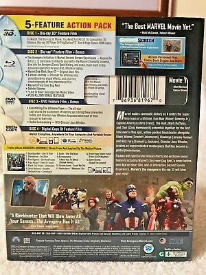 The Avengers (Blu-ray 3d DVD, 2012, 4-Disc Set 2