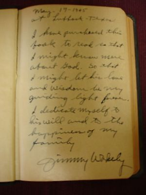 Bible KJV Jimmy Wakely Inscribed - 1945