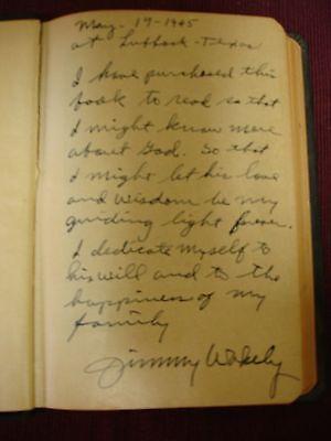 Bible KJV Jimmy Wakely Inscribed - 1945 2