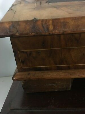 Antique victorian burr Walnut Inlaid Table Top Writing desk 7