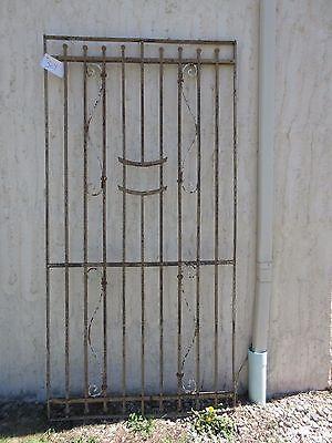 Antique Victorian Iron Gate Window Garden Fence Architectural Salvage Door #369 5