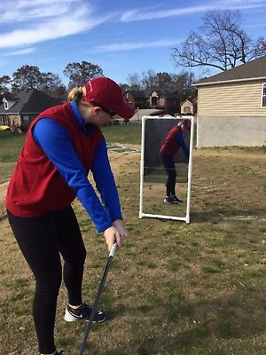 Golf Practice Mirrors 2'x4' Folds for Easy Transport --Writeable surface 5