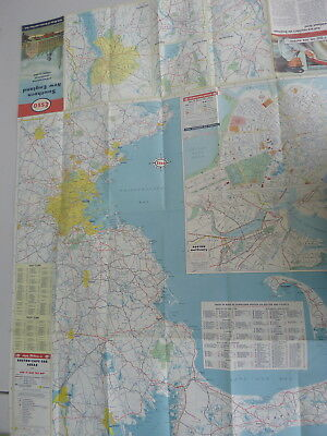 1950 S.  New England road map Esso oil gas Faneuil Hall Massachusetts CT RI 4