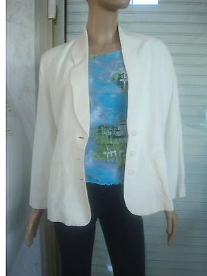 Chic Blaser 3638 Etam T Lin Veste Marque Blanc De Couture Casse En Zqwn4dES