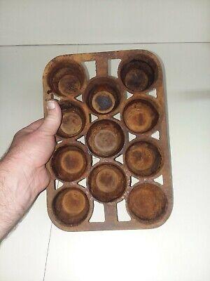 ANTIQUE  1900S Cast Iron 11 SLOT  Muffin/Cornbread Pan 8X11 HEAVY 4