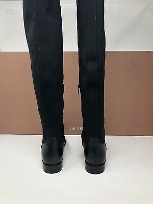 1ee73df158e ... Via Spiga Women s Varun Leather   Stretch Over-the-Knee Boots Size 6  Black