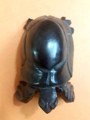 Authentic antique. Statue of  Turtle made of ebony 2