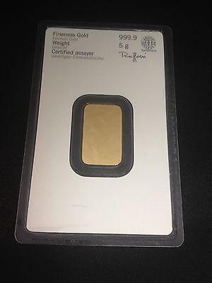Heraeus 999 Feingold 1 - 5 - 10 Gramm Gold Barren mit Zertifkat * sehr edel * 4