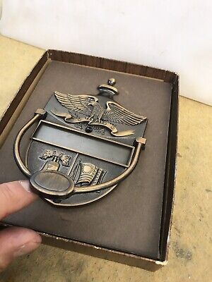 Vintage Door Knocker Metal Patriotic American Eagle Liberty Bell Colonial Flag M 2
