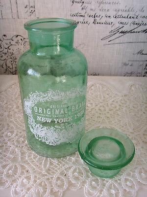 2 Apothekerflaschen Flaschen Glasflaschen Shabby  Landhaus Vintage Jade 250 ml