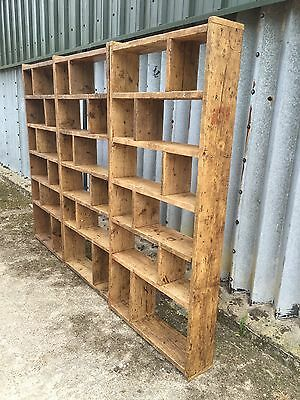 Industrial Up-Cycled Pigeon Hole Shelving Units 3