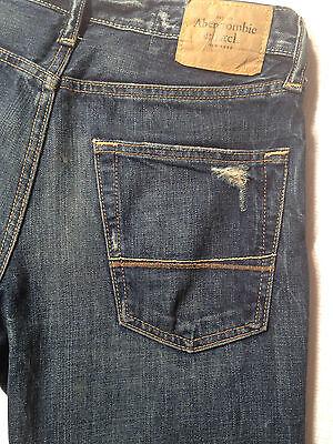 Abercrombie & Fitch Jeans BAXTER Indigo Destroy W28 L30 RRP $279 Mens or Boys 9