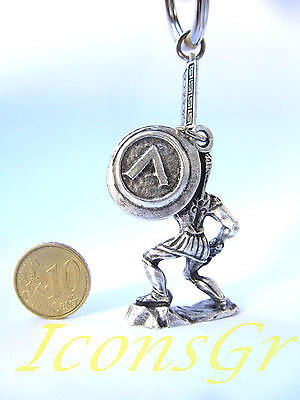 Ancient Greek Vintage Zamac Spartan Miniature Keyring 300 Leonidas King Sparta 2