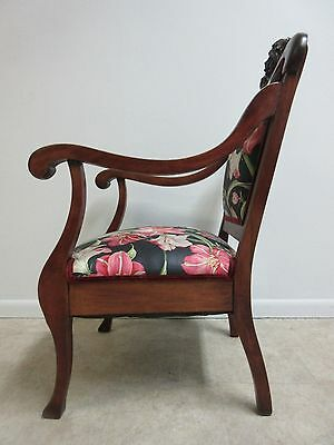 Antique Victorian Figural Carved Fireside Lounge Arm Chair 7