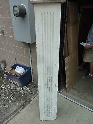 "SQUARE fluted TAPERED victorian POST pier COLUMN 61"" x 9 x 10"" square 8"