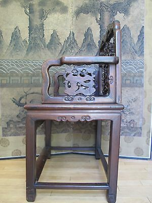 Beautiful 18-19th Century Qing Dyn. Chinese Rosewood Mother of Pearl Inlay Chair 5