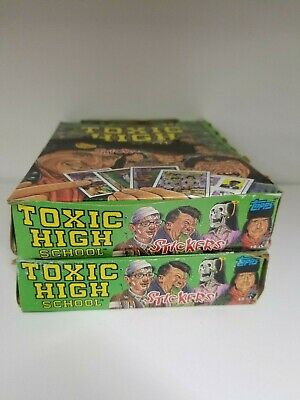 1992 Topps Toxic High School Collectible Trading Pack Sticker Box 2 BOX LOT 2