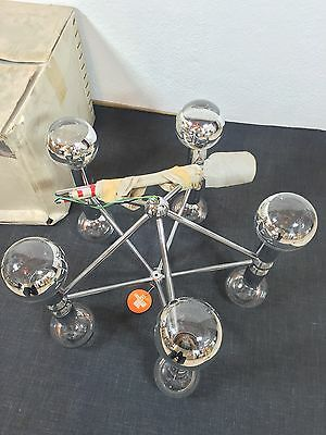 KINKELDEY Space Age ATOMIC Chandelier Pendant Lamp Fermigier Era Verre Lumiere 3 • CAD $1,864.80