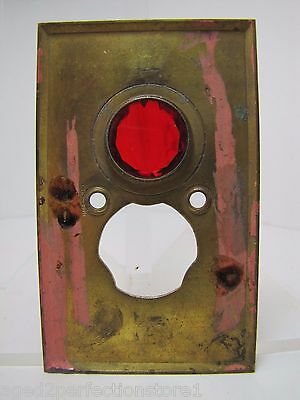 Antique Architectural Red Jeweled Glass Electrical Switch Cover Outlet Hardware 12