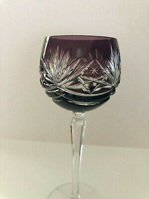 VINTAGE BOHEMIAN STYLE CRYSTAL ROEMER (Römer) WINE GLASS FROM GERMANY - GRAPE 8