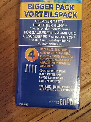 *Braun Oral-B Precision Clean Electric Toothbrush Replacement Brush Heads x 4 2