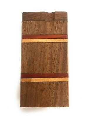 """4"""" Wooden Tobacco Dugout Set with pipe Loaded (3"""" Metal One Hitter) 2"""