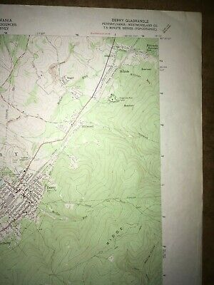 Derry Pa.Westmoreland County USGS Topographical Geological Survey Quadrangle Map 3