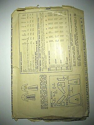 Vtg 1940s Simplicity Sewing Pattern 2606 Juniors, Misses 2-Piece Suit with Skirt 2