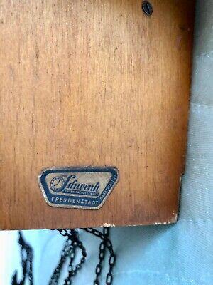 Vintage Hand Made Wooden Regula Musical Dancers Wheel Cuckoo Clock Germany 8
