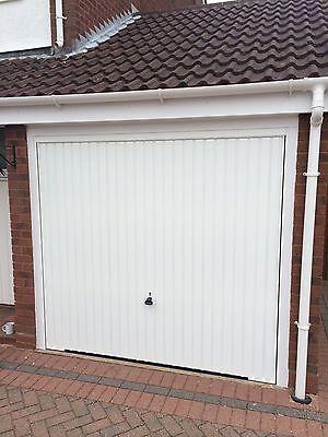 Garador Carlton Canopy Garage Door White Up And Over Steel New
