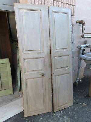 """pAIR ~ LATE 19th century antique furniture CABINET DOORS 74.5"""" x 21"""" & 18.25"""" 6"""